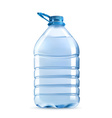 Big plastic bottle of potable water barrel with vector image vector image