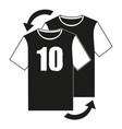 black and white soccer player replacement icon vector image vector image