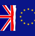 brexit torn flag vector image vector image