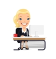 Business Lady at Her Desk vector image vector image