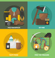 camping colored compositions vector image vector image