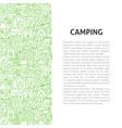 camping line pattern concept vector image vector image