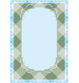checkered background with tracery frame vector image vector image