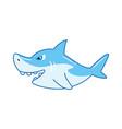 children toy blue shark kid development vector image vector image
