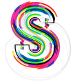 Colorful Font Letter S vector image vector image