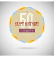 Congratulatory badge for the fiftieth anniversary vector image vector image