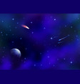 cosmic galaxy background with nebula milky way vector image