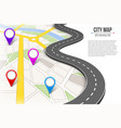 creative of map city street vector image vector image