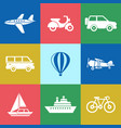 digital red green blue travel vector image vector image