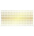 dollar banknote gold halftone array vector image