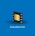 esim embedded sim card icon symbol concept new vector image vector image