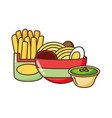 fast food related vector image