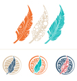 Feather Design Collection vector image vector image