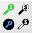 financial audit eps icon with contour vector image