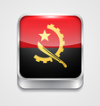 flag of angola vector image vector image