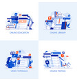 flat designed conceptual icons 7 vector image