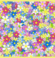floral colorful seamless background with flowers vector image vector image