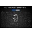Gas and Energy Management concept with Doodle vector image vector image