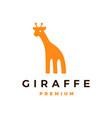 giraffe logo icon vector image vector image