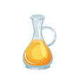 glass jug of fresh rapeseed oil natural vector image vector image