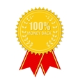 Gold Label 100 Money back vector image vector image