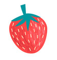 graphics big tasty strawberry berry vector image