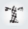 grayscale tartan isolated icon - lighthouse vector image vector image