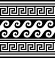 greek wave and key pattern seamless design vector image