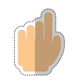 hand human index icon vector image vector image