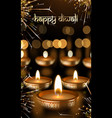 happy diwali indian festival lights greeting card vector image