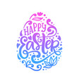 happy easter banner greeting card template vector image vector image