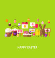 happy easter greeting postcard vector image vector image