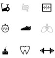 healthy icon set vector image