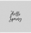 hello spring transparent background vector image vector image
