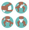 how to wear a diaper steps simple manual vector image