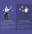 internet online business set vector image