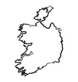 ireland map from contour black brush lines vector image vector image