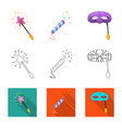 isolated object of party and birthday sign vector image