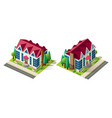 isometric right left view house vector image vector image