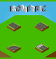 isometric way set of without strip strip vector image vector image