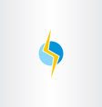 lighting bolt yellow blue logo vector image