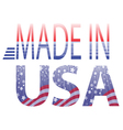 made in USA text vector image