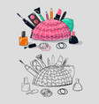 makeup tools vector image