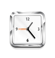 Metal square clock icon vector image