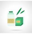 Milk formula flat color icon vector image vector image
