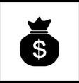 money bag icon in flat style moneybag with vector image vector image