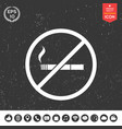 no smoking smoking ban icon cigarette - vector image vector image