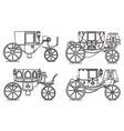 outline set vintage automobile or old car vector image vector image