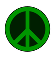 Peace symbol sign vector image vector image