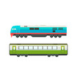 railway passenger suburban vehicles set side view vector image vector image
